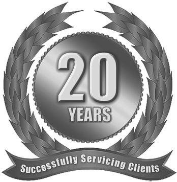 20 Years In Business Badge
