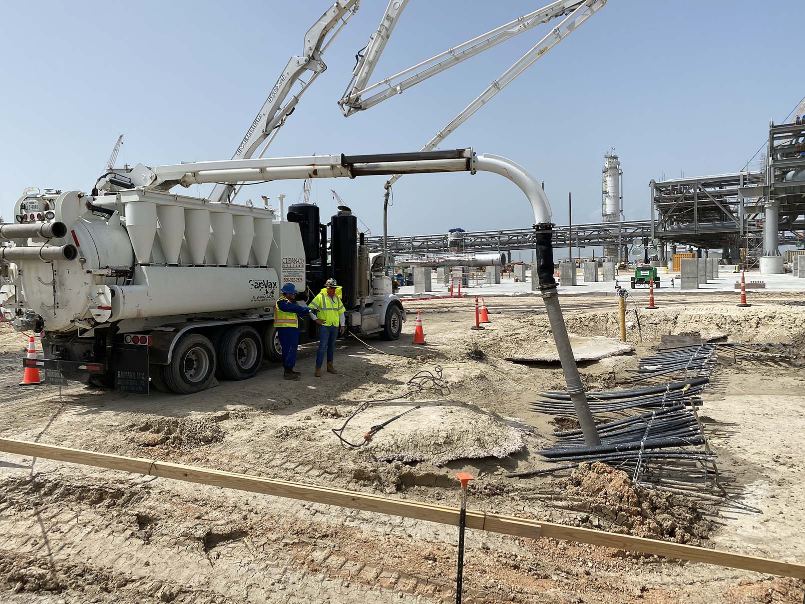 Clean Co Hydro Excavation Services at Exxon's Corpus Chirsti Ethelyne Cracker Facility