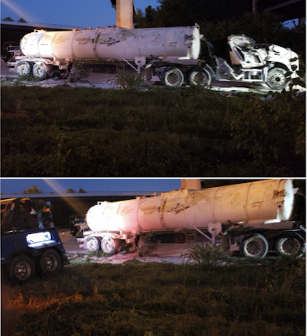 Tanker Truck Emergency Spill Clean Up from Hazardous Waste