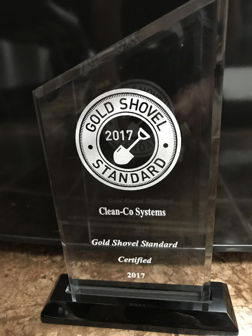 Golden Shovel Award for Excavation | CleanCo Systems