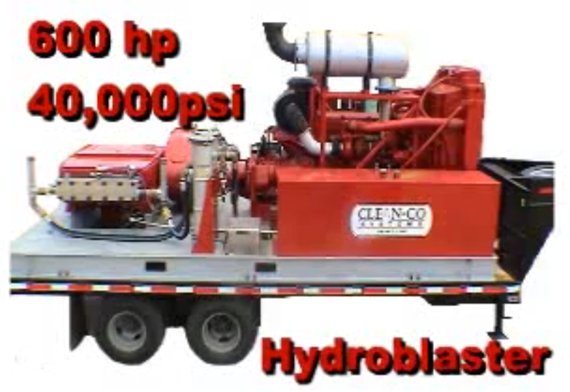Houston industrial hydroblasting services clean co systems